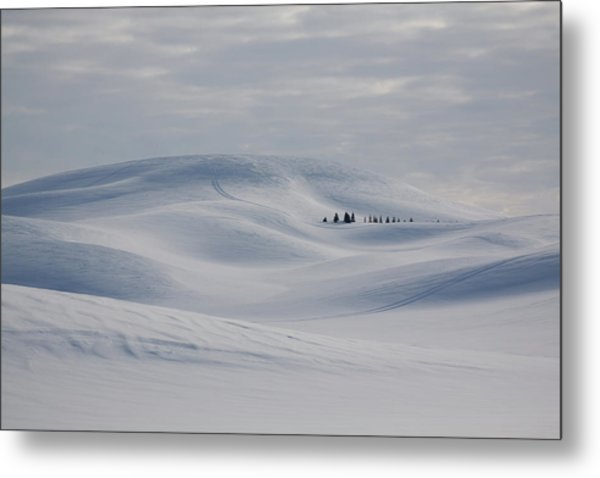 Frozen Winter Hills Metal Print