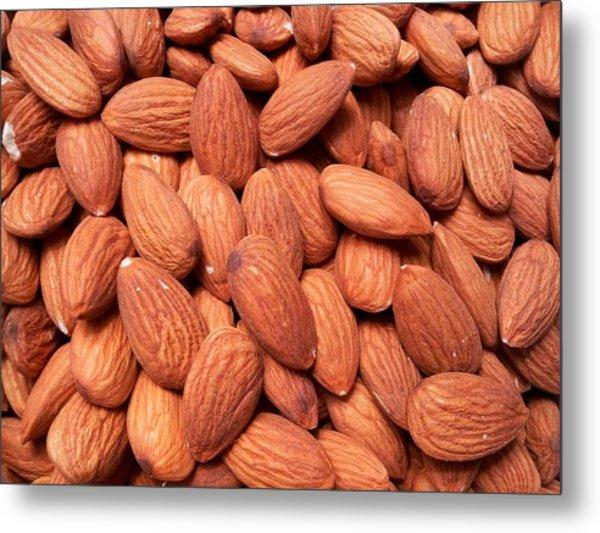 Full Frame Shot Of Almonds Metal Print by Frank Schiefelbein / Eyeem