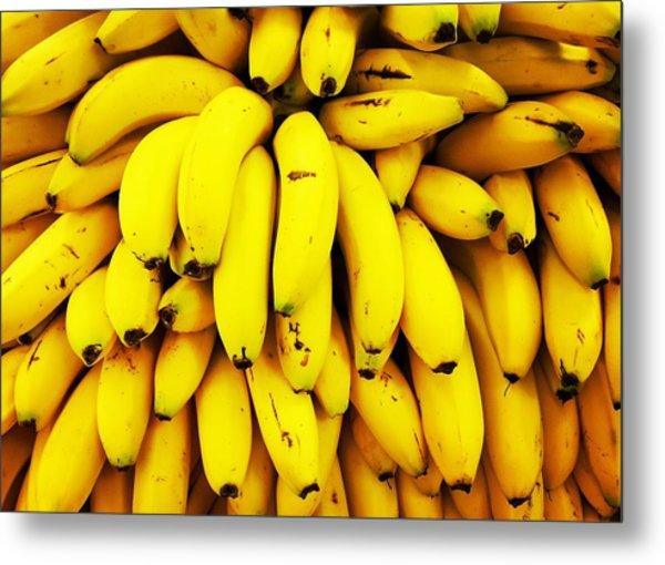 Full Frame Shot Of Yellow Bananas Metal Print by Daisy De Los Angeles / Eyeem