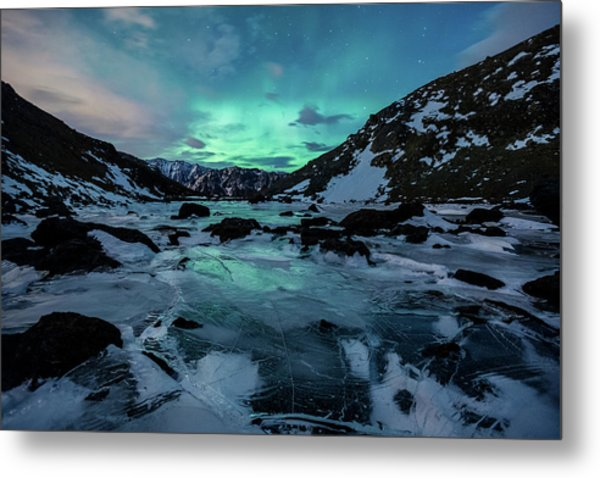 Metal Print featuring the photograph Gale-force Aurora H by Tim Newton