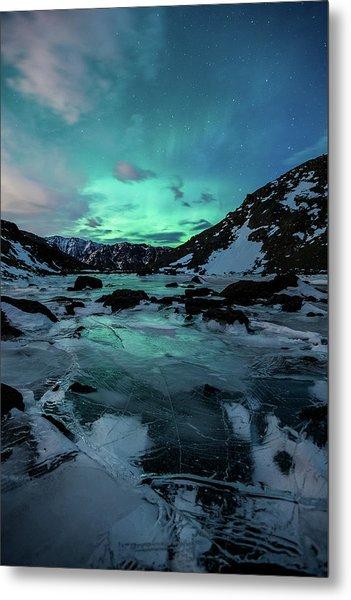 Gale-force Aurora V Metal Print