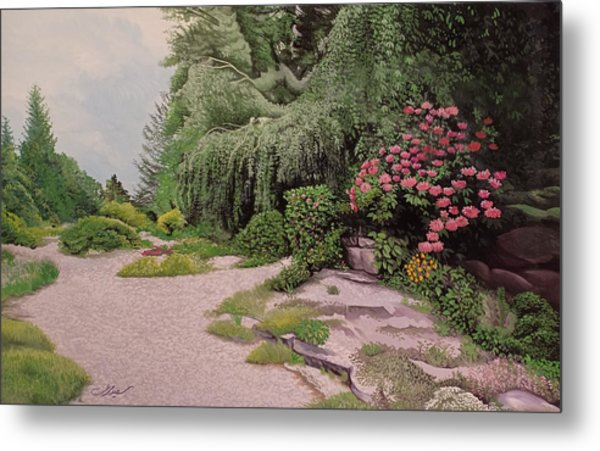 Metal Print featuring the painting Garden by Said Marie