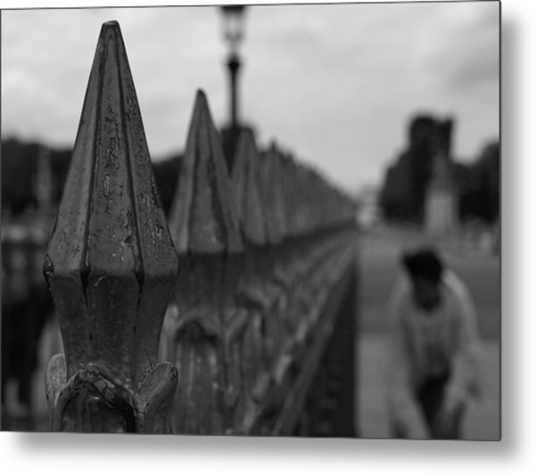 Metal Print featuring the photograph Gate, Person by Edward Lee