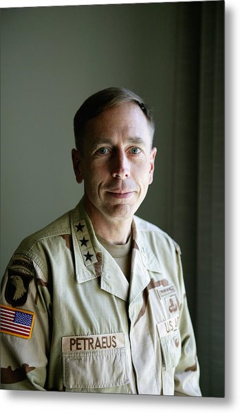 General Petraeus Charged With Metal Print by Brent Stirton
