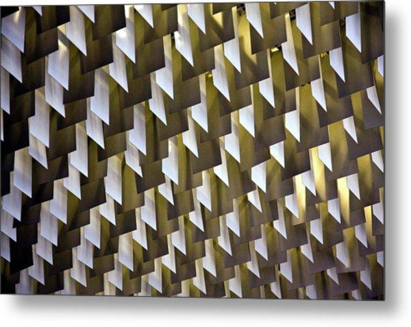 Geometric Ceiling Metal Print by Gerard Hermand