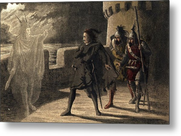 Ghost Appears To Hamlet Metal Print by Hulton Archive