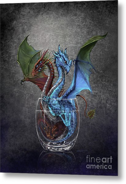 Gin And Tonic Dragon Metal Print