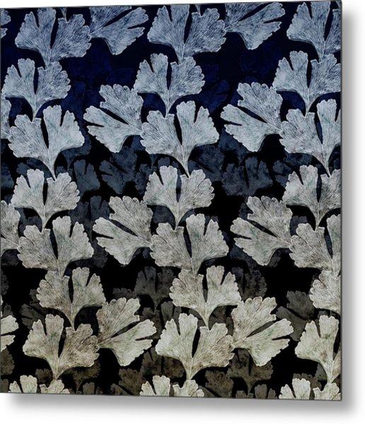 Ginko Leaf Pattern Metal Print