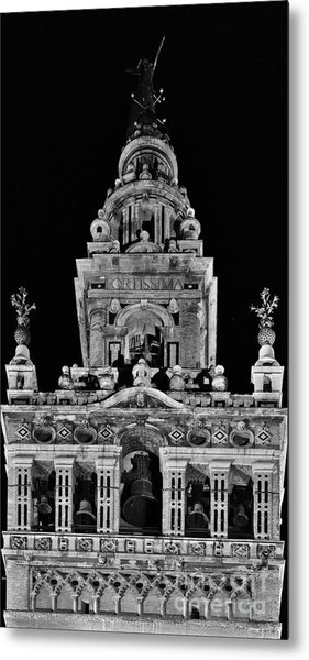 Giralda Tower In Monochrome. Seville Metal Print