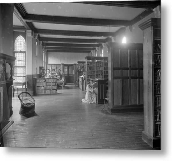 Girton Library Metal Print by Reinhold Thiele