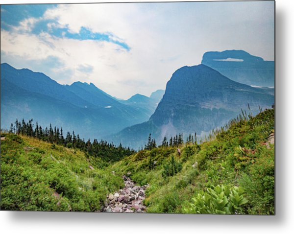 Metal Print featuring the photograph Glacier Canyon Vista by Lon Dittrick