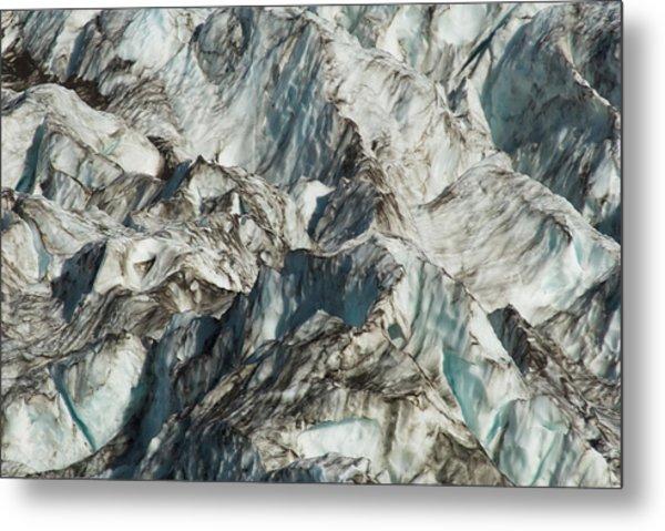Glacier Ice 1 Metal Print