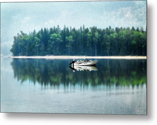 Glacier National Park Lake Reflections Metal Print