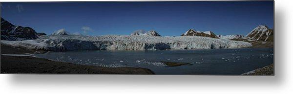 Glacier Svalbard Metal Print