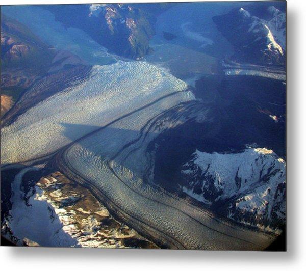 Glaciers Converge Metal Print