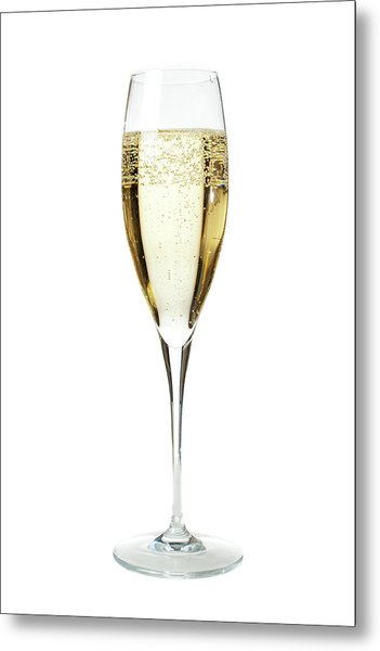 Glass Of Champagne Metal Print by Gianluca Fabrizio