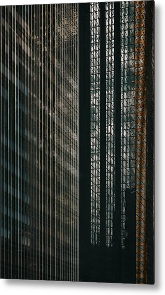 Glass Walls Metal Print