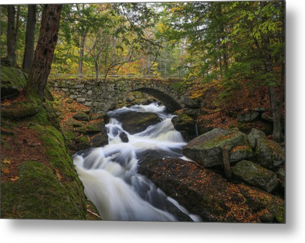Metal Print featuring the photograph Gleason Falls by Juergen Roth