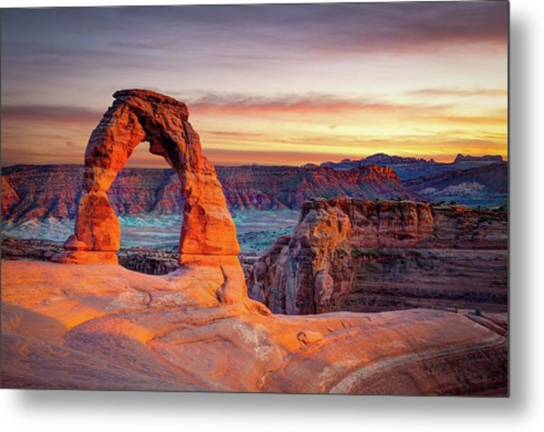 Glowing Arch Metal Print