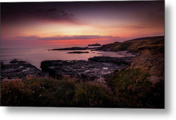 Godrevy Sunset - Cornwall Metal Print