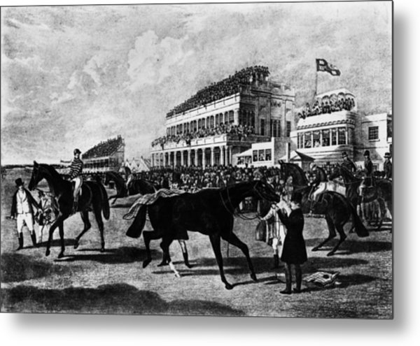 Gold Cup Day Metal Print by Rischgitz