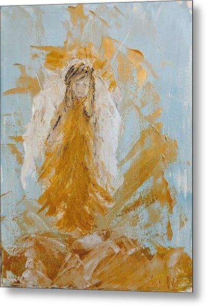 Golden Angel Metal Print
