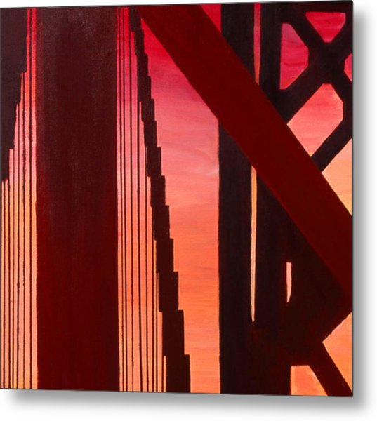 Golden Gate Art Deco Masterpiece Metal Print
