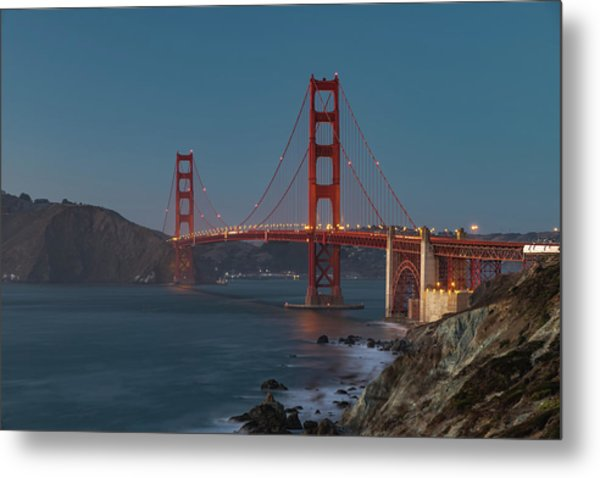 Metal Print featuring the photograph Golden Gate Bridge by Philip Rodgers