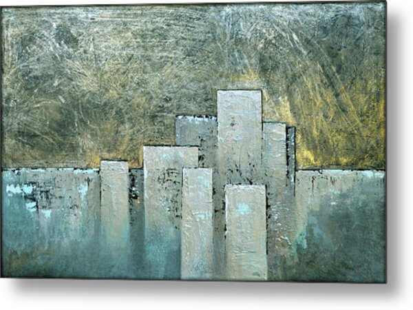 Golden Skyline II Metal Print