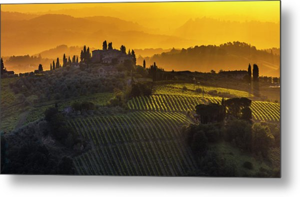 Golden Tuscany Metal Print