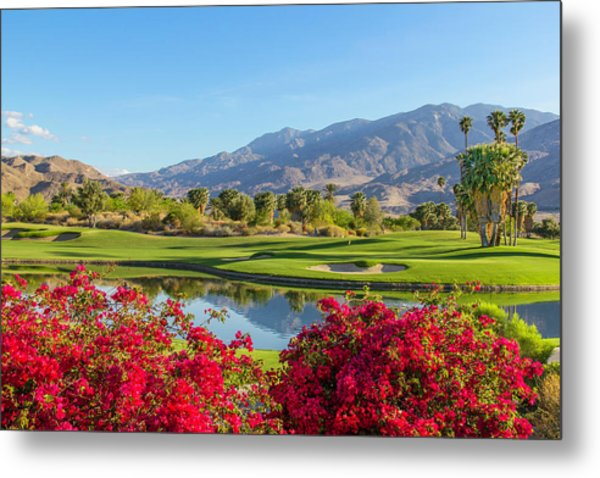 Golf Course In Palm Springs, California Metal Print