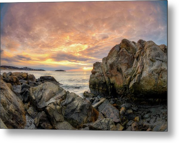 Metal Print featuring the photograph Good Harbor Rock View 1 by Michael Hubley