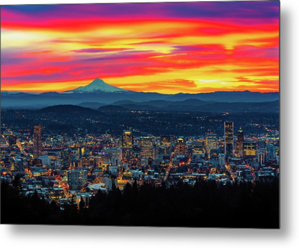 Good Morning Portland Metal Print