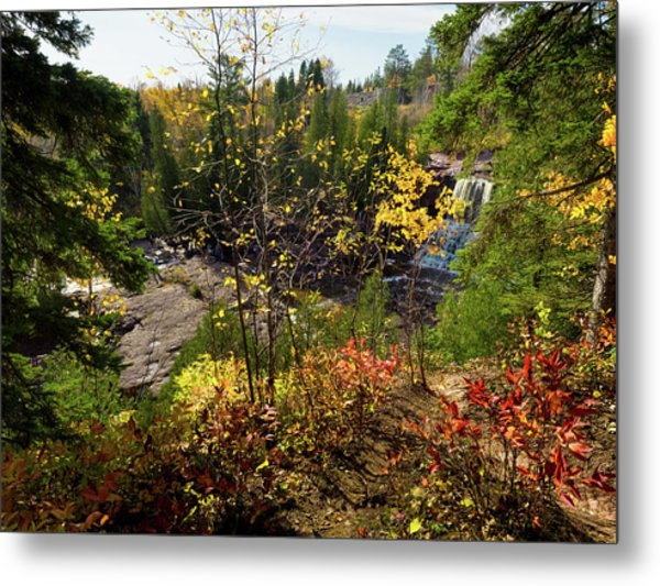 Metal Print featuring the photograph Gooseberry Falls From Above by Whitney Leigh Carlson
