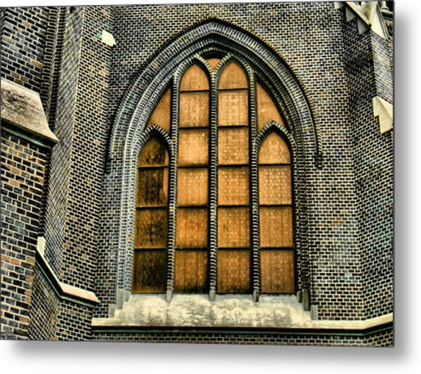 Gothic Church Window Metal Print