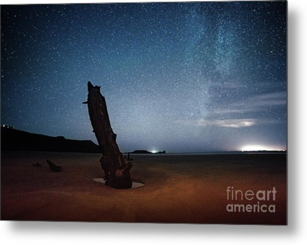Gower Helvetia At Night  Metal Print