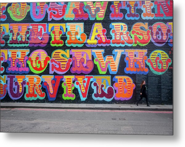 Graffiti Mural Metal Print