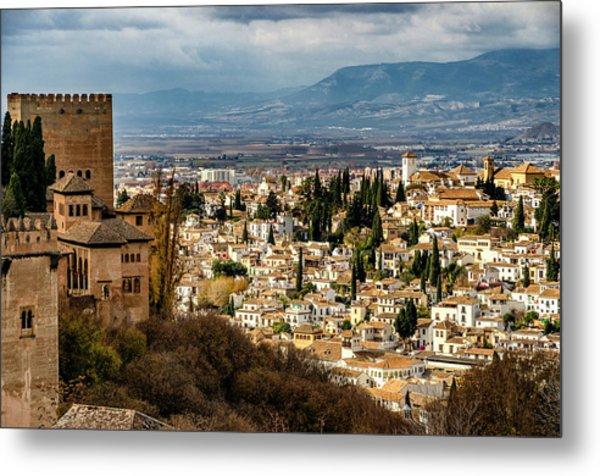 Granada And La Alhambra Metal Print