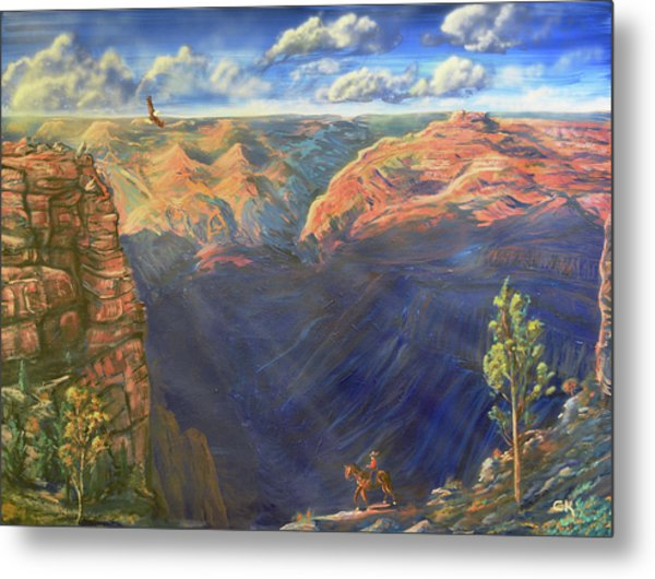 Metal Print featuring the painting Grand Canyon And Mather Point by Chance Kafka