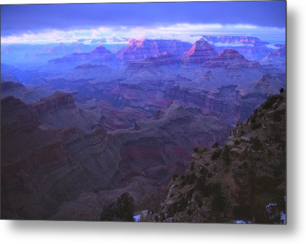 Metal Print featuring the photograph Grand Canyon Twilight by Chance Kafka