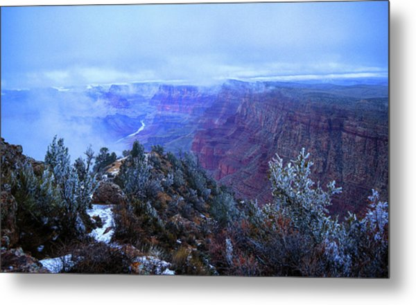 Metal Print featuring the photograph Grand Canyon Winter Scene by Chance Kafka