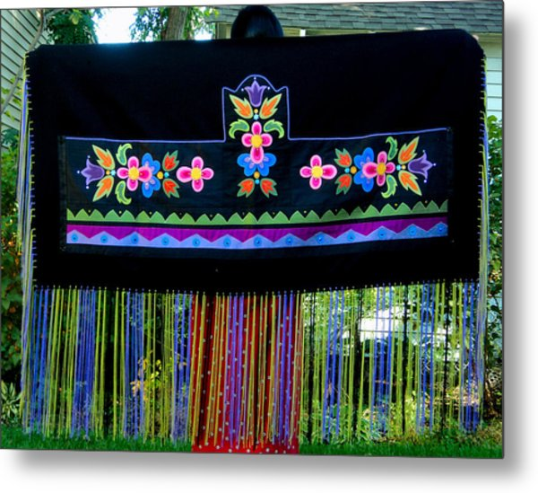 Metal Print featuring the tapestry - textile Grand Mothers Garden by Chholing Taha