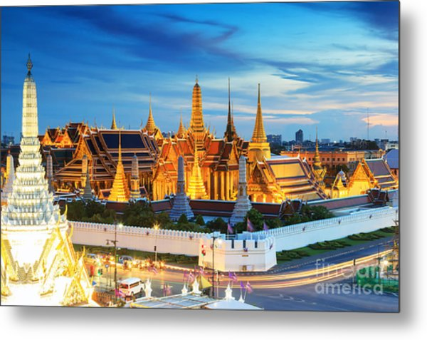 Grand Palace And Wat Phra Keaw At Metal Print by Southerntraveler
