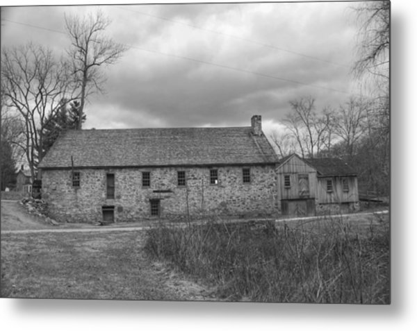Grey Skies Over Fieldstone - Waterloo Village Metal Print