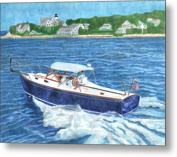 Metal Print featuring the painting Great Ackpectations Nantucket by Dominic White