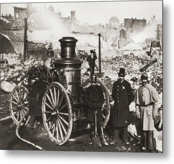 Great Boston Fire Metal Print by Fpg