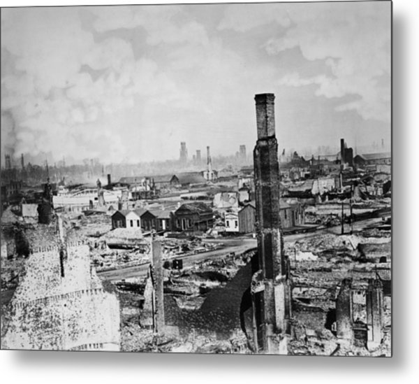 Great Chicago Fire Metal Print by Archive Photos