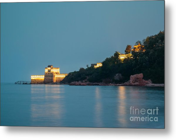 Great Wall At Night Metal Print