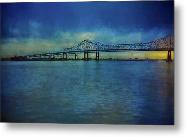Greater New Orleans Bridge Metal Print