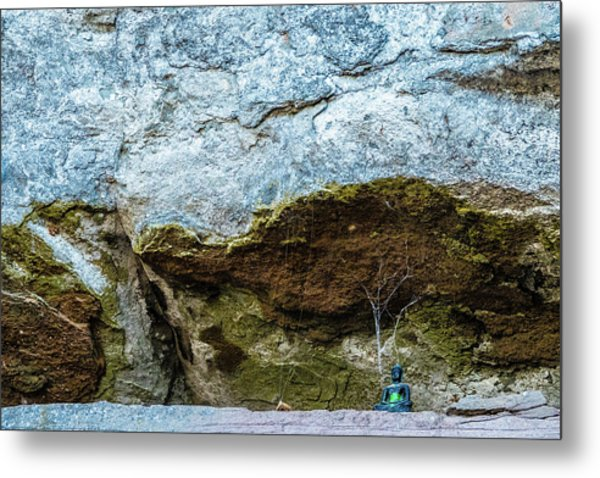 Green Buddha And The Flying Trapeze Metal Print